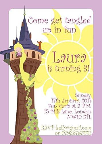 10 X Rapunzel Enredados Niños Fiesta De Cumpleaños