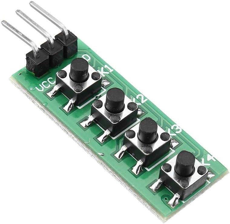 Cvmnkljfge Electronic DC Motor Speed Controller Keypad 4 Button Key Module Switch Keyboard for Arduino UNO MEGA2560 Breadboard Low Heat Generating,Reverse Polarity Protection