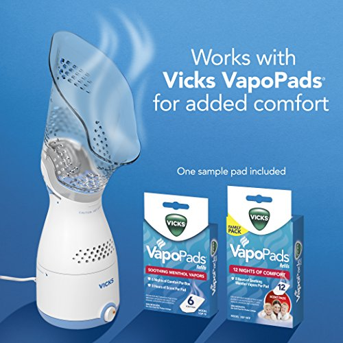 51T2XiMQ9TL - Vicks Personal Sinus Steam Inhaler Face Steamer with Soft Face Mask