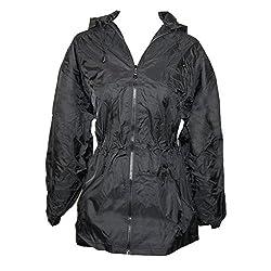 Shedrain Umbrellas Women's Packable Anorak Jacket Size,black,mediumlarge(810)