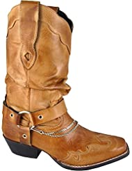 Smoky Mountain Womens Avalon Slouch Cowgirl Boot Square Toe - 6348