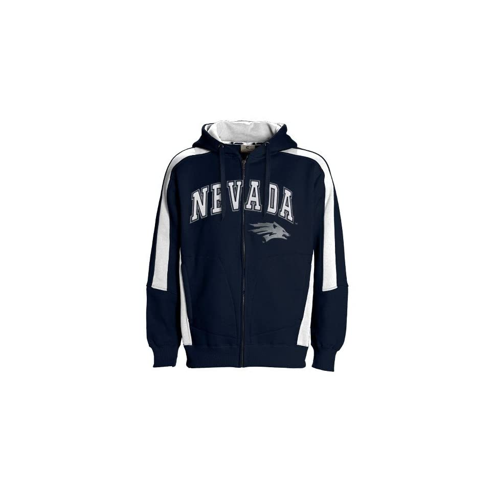 Nevada Wolf Pack Navy Blue Spiral Full Zip Hoody Sweatshirt