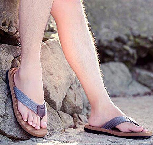 Zomerwhisper Heren Casual Antislip Slijtvaste Strand Slippers Platte Slipper Flip-flops Grijs