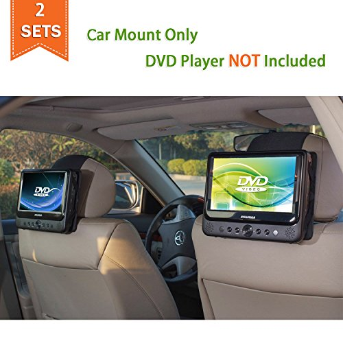 TFY Car Headrest Mount for Portable DVD Player – 2 Pieces