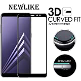[PACK OF 1]Samsung Galaxy A8 Plus 3D Tempered, Full Tempered Glass For Samsung Galaxy A8 Plus - Black