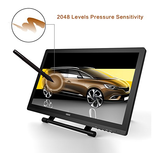 Ugee UG-2150 21.5 Inches LED Graphics Monitor IPS Pen Display HD Resolution Drawing Monitor Dual Monitor with Adjustable Stand, 2 Rechargeable Pens, 1 Drawing Glove, 1 Screen Protector by Ugee (Image #2)