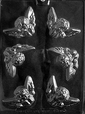 Cherubs Angel Soap or Candy Mold 6 Cavity