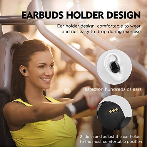 DuoTen Wireless Earbuds, IPX7 Waterproof Earbuds Bluetooth 5.0 Headphones 150 Hours Playtime, TWS Stereo Sound Wireless Earphones with 3000mAh Charging Case LCD Display CVC8.0