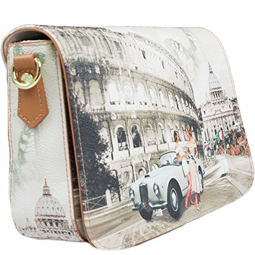 BORSA DONNA Y NOT? ORIZZONTAL SHOULDER BAG L LIFE IN ROME YES BAG J-352