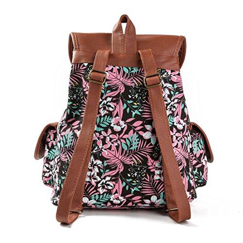 Diudiul - Bolso mochila  de Lona para mujer a