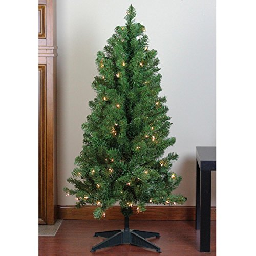 Northlight Pre-Lit Noble Pine Artificial Christmas Tree with Clear Lights, 4' x 25
