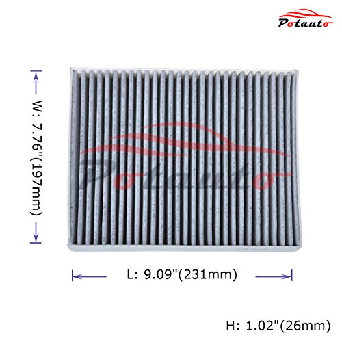 [해외]POTAUTO MAP 1024C 헤비 활성 카본 캐빈 에어 필터 교체 MAZDA 6 호환/POTAUTO MAP 1024C Heavy Activated Carbon Car Cabin Air Filter Replacement compatible with MAZDA 6