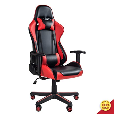 Strange Mieres Video Gaming Chair Racing Office Pu Leather High Back Ergonomic 150 Degree Adjustable Swivel Executive Computer Desk Task Large Size Headrest Pdpeps Interior Chair Design Pdpepsorg