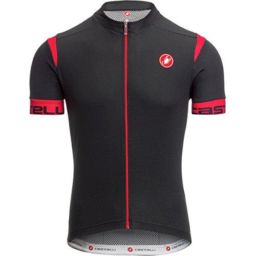 Castelli Cento Jersey - Men's Black/Red, L