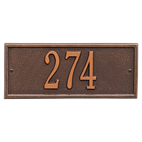 Small Copper Mailbox - Whitehall Personalized Cast Metal Address Plaque - Small Hartford Custom House Number Sign - 10.5