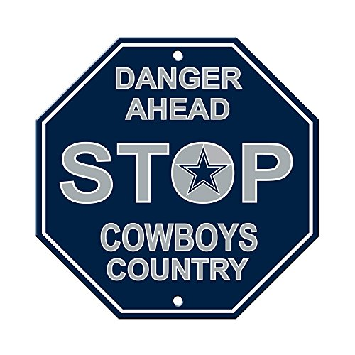 Fremont Die NFL Dallas Cowboys Stop Sign (Wood Country Sign Nfl)