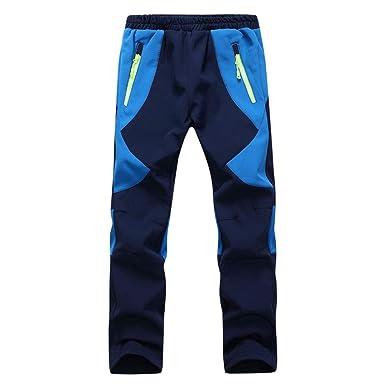 165afe9026c3d XFentech Softshell Pants - Parent-Child Windproof Waterproof Hiking  Mountain Ski Pants Winter Fleece Lined Insulated Pants: Amazon.co.uk:  Clothing