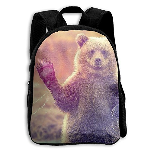 School Season Kids Shoulder Bag Toddler Bookbag Rucksack Child Brown Bear Hello Backpack Handbags - Sunglasses Class Working