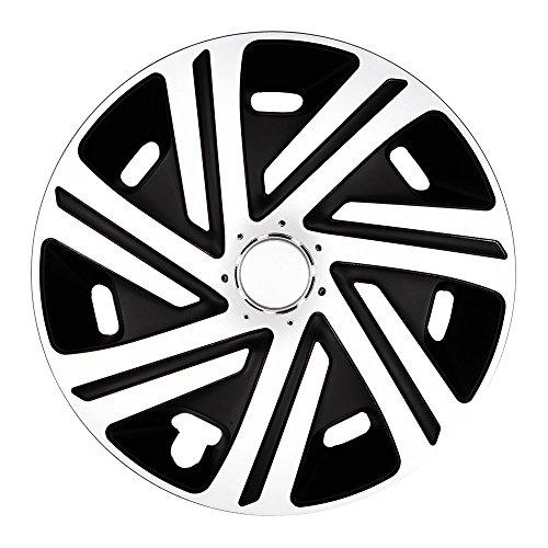 (Farbe und Größe wählbar!) 16 Zoll Radkappen CYRKON (Schwarz-Weiß) passend für fast alle Fahrzeugtypen (universell) - vom Radkappen König