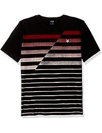Men's Short Sleeve Gradual V Neck Knit Shirt