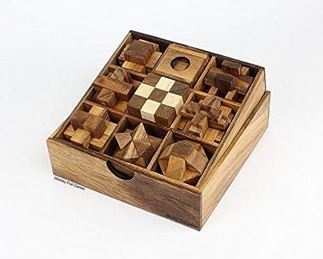 Amazon.com: Monkey Pod Games Nine Puzzle Gift Set: Toys & Games