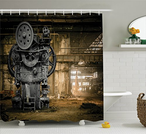 Ambesonne Industrial Decor Collection, Metallurgical Firm...