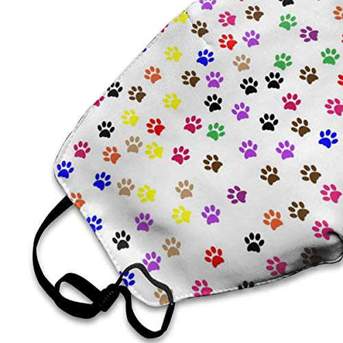 Colorful Dog Paw Print Mask for Men & Women - Mask Can Be Washed Reusable Mask One Size Multiple Patterns