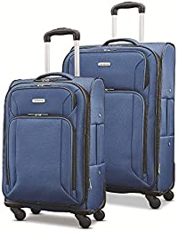 """Victory 2 Piece Nested Softside Set (21""""/25""""), Navy Blue, Only at Amazon"""