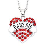 Best Gift-Hero Friends Gifts For Teen Girls - O.RIYA Baby Sis Sister Gifts Necklace Crystal Heart Review