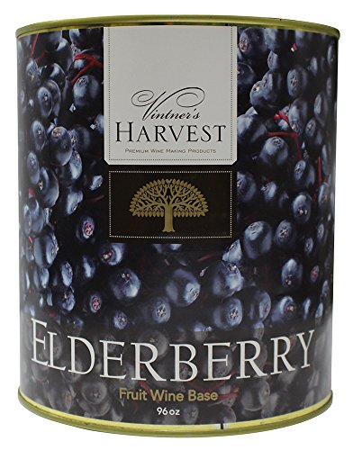 Elderberry (Vintner's Harvest Fruit Bases) : Wine Making Recipe Ingredient Kit 96oz (Vintners Harvest Fruit Wine Base)