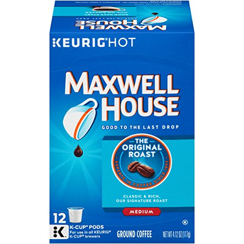 Maxwell House Original Roast K-Cup Packs, 12 count (Pack of 6)