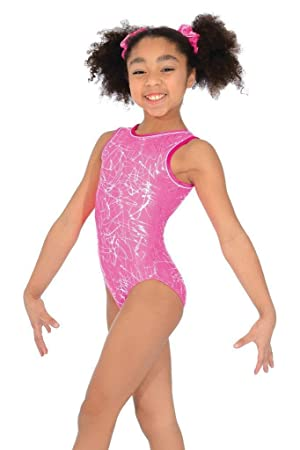 a67e1f5ae417 The Zone Sleeveless Round Neck Squiggle Print Gymnastics Leotard ...