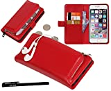 Urvoix iPhone 6 / iPhone 6S Case, Organizer PU Leather Clutch Purse with Detachable Case, Card Slots and ZIP Pouch Cover for iPhone6/6S (4.7'')