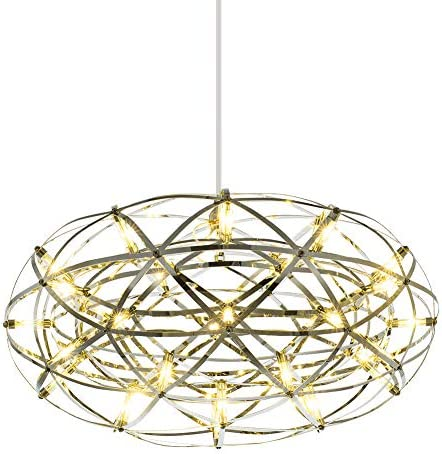 Mzithern Pendant Lighting Modern Chandelier LED Chandeliers Oval Ceiling Light Fixtures Decor Hanging Round Firework LED Pendant Light