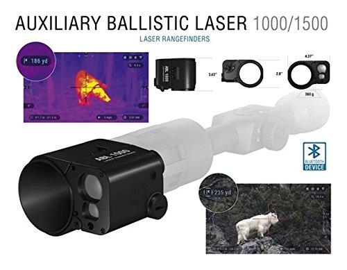 51T2d8Xi1yL - ATN Laser Ballistics 1500 Smart Laser Rangefinder w/Bluetooth, device works with Mil and MOA scopes using Ballistic Calculator App