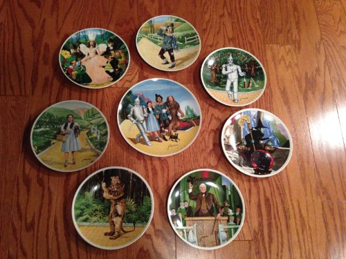 Full Set of 8 Knowles Wizard of Oz Collector Plates By James Auckland (1978)