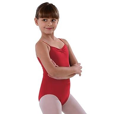 6f2ba7483 Amazon.com  So Danca Red Pinched Neckline Dance Leotard Little Girls ...