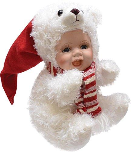 Porcelain Christmas Doll - 6
