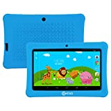 "Contixo Kids Safe 7"" Quad-Core Tablet 8GB, Bluetooth, Wi-Fi, Cameras, 20+ Free Games, HD Edition w/ Kids-Place Parental Control, Kid-Proof Case, 2017 Best Christmas Gift (Blue)"