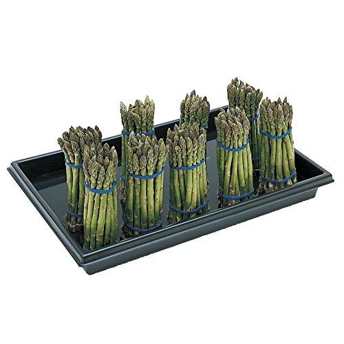 Asparagus Display Black Plastic Produce - 23 1/2 L x 15 1/2 W x 2 1/2 H
