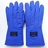 Inf-way 38cm/14.96'' Long Cryogenic Gloves Waterproof Low Temperature Resistant LN2 Liquid Nitrogen Protective Gloves Cold Storage Safety Frozen Gloves (Small)