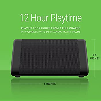 Oontz Angle 3 Portable Bluetooth Speaker : Louder Volume 10w Power, More Bass, Ipx5 Water Resistant, Perfect Wireless Speaker For Home Travel Beach Shower Splashproof, By Cambridge Soundworks (Black) 4
