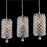 Onbio Modern Crystal Ceiling Light Pendant Lamp Fixture Lighting Chain Chandelier