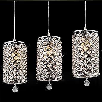 cindere Modern Crystal Ceiling Light Pendant Lamp Fixture ...