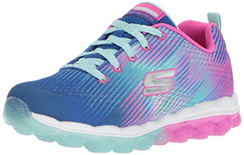 Synthetic Star Blue (Skechers Kids Girl's Skech-Air-Star Jumper Sneaker,Lavender/Pink, 1.5 Medium US Little Kid)