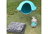 Small Dog Cat Pod Bed Nest A Modern Design Pet Bed Pillows for Cats. Reversible and Washable Sherpa Fleece Blanket Included. (Light Blue)