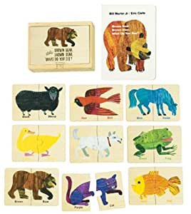 Eric Carle Brown Bear Puzzle Tiles with Book