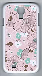 Samsung Galaxy S4 Case Customized Unique Pink Flowers Cover For Samsung Galaxy S4 I9500