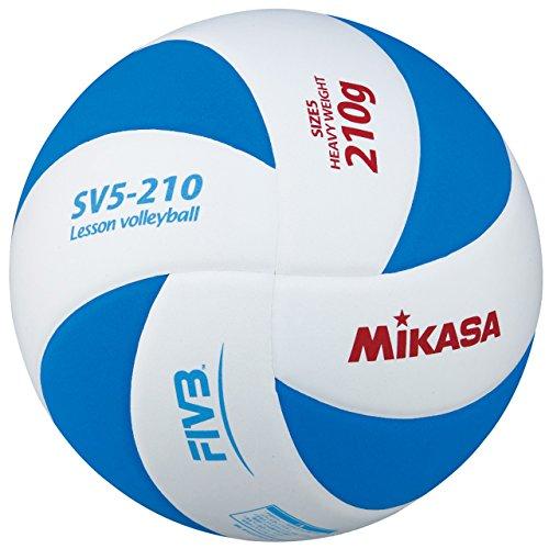《미카사》(MIKASA) 레슨 발리볼 배구공5 호 SV5-210-WBL WBL 화이트 / 블루 5 호 공
