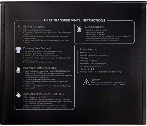 "Heat Transfer Vinyl High Stretch Cutting 10/""  - Black :"